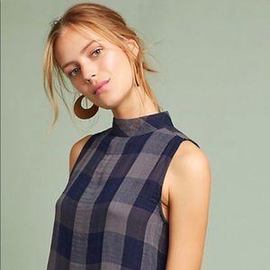 Cloth and Stone Plaid swing Dress size M